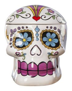 Sugar Skull Cookie Jar