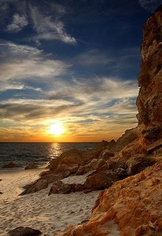 California, Los Angeles, Malibu, sunset at Point Dume