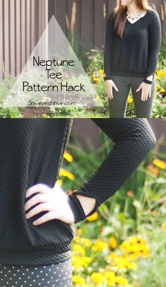 Neptune Tee Hack - into Sweatshirt! Sewing Hacks, Sewing Tutorials, Free Tutorials, Sewing Tips, Sewing Ideas, Sewing Crafts, Sewing Projects, Diy Clothing, Clothing Patterns
