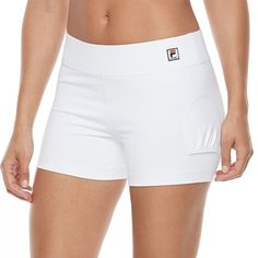 Women's FILA Sport® Tennis Shorts, Size: Medium, White
