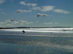 Surfer at Martinique Beach just outside Halifax! #Surf #Halifax #NovaScotia
