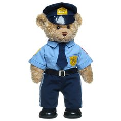 Police Curly Teddy - Build-A-Bear Workshop Boyds Bears, Teddy Bears, Custom Teddy Bear, Teddy Bear Cartoon, Teddy Bear Pictures, Sailor Outfits, Build A Bear, Thin Blue Lines, Police Officer