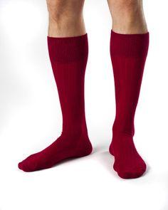 Oliver- Combed Organic Cotton Ribbed Dress Socks by Zkano - $17.00
