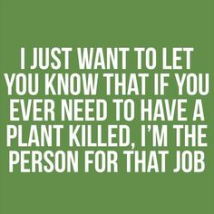 I am like a hospice worker for plants.......