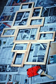 how to make a multi picture frame