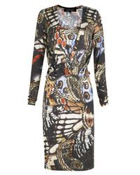 Paul Smith Black Label   Black Layered Neck Butterfly Dress   Lyst