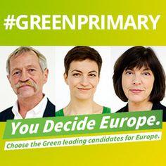 Los Verdes dan su apoyo a José Bové, Ska Keller y Rebecca Harms en la primarias del Partido Verde Europeo (European Greens)