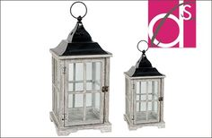 Love these rustic little lanterns!
