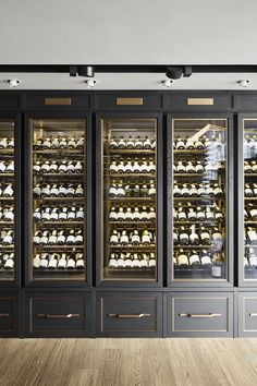 The Wine Palace by Humbert & Poyet Tasting Room, Wine Tasting, Cave A Vin Design, Home Wine Cellars, Wine Cellar Design, Drink Bar, Wine Display, Wine Wall, Wine Cabinets