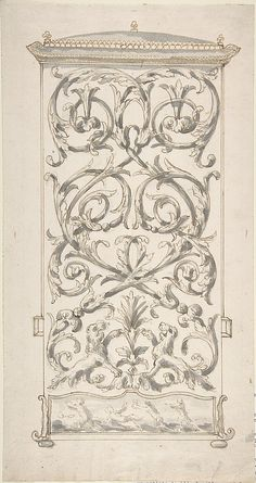 Anonymous, French, 18th century   Design for Back of a Sedan Chair   The Metropolitan Museum of Art