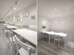 Modest Tokyo Baby Cafe Interior Design by Nendo