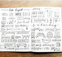 Headers & banners for bullet journaling. Bullet Journal Headers, Bullet Journal Junkies, Bullet Journal Ideas Pages, Bullet Journal Spread, Bullet Journal Inspiration, Journal Pages, Journal Fonts, Journal Layout, Bellet Journal