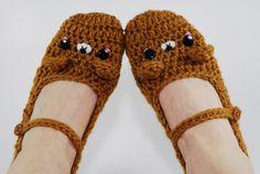 Brown Bear Slippers Women accessoriesCrochet by Gitanaflipflops, $35.00