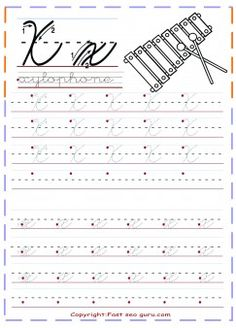 print out cursive handwriting tracing worksheets letter x for xylophone free kindergarten.kids learning activities worksheets for graders letter x for xylophone coloring pages for kids.learning to write worksheets for preschoolers. Cursive Writing Practice Sheets, Teaching Cursive, Cursive Handwriting Practice, Cursive Writing Worksheets, Improve Your Handwriting, Handwriting Analysis, Cursive Letters, Tracing Worksheets, Learn Cursive