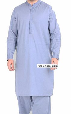 Buy Mens Shalwar Kameez suits with latest designs. Custom made Pakistani Indian mens Kurta Shalwar Kameez dresses. Mens Shalwar Kameez, Islamic Clothing, Men Online, Pakistani, Fashion Dresses, Sky, Indian, Suits, Stylish