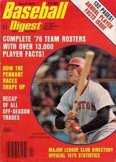 Sports Magazine Covers: Carlton Fisk Baseball Art, Baseball Players, Sports Magazine Covers, World Of Sports, Boston Red Sox, Major League, Good Books, Mlb, Magazines