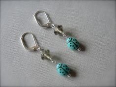 Earrings Vintage Ladybugs. $10.00, via Etsy.