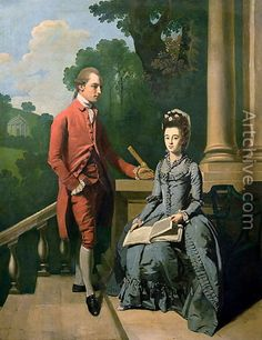 Portrait of a gentleman and his wife - Francis Wheatley