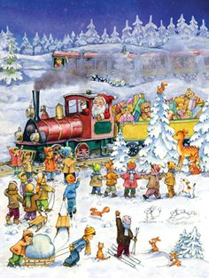 Christmas Express Advent Calendar w/ Env | With Envelope | Vermont Christmas Co. VT Holiday Gift Shop
