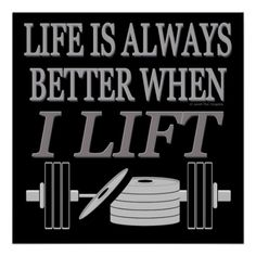 Bodybuilding Is My Lifestyle | Bodybuilding Life Is Always Better When I Lift Print | Zazzle.co.uk