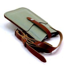 Leather iPhone 6 PLUS Crossbody Wallet Celadon Green by Fleur-de-Leather Leather Purses, Leather Handbags, Leather Wallet, Leather Totes, Leather Bags, Leather Workshop, Iphone Leather Case, Leather Gifts, Crossbody Wallet