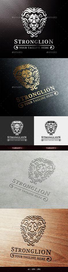 Strong Lion Logo,animal, Animal Logo, art, branding, company, crown, design, elegant, head lion, king, lion, logo, power, strong, vector