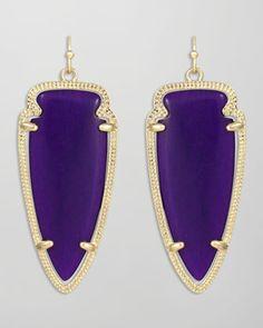 Purple Skylar Arrow Earrings by Kendra Scott