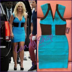 Bandage dress blue al estilo de #BritneySpears