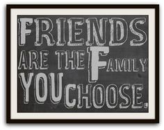 Chalkboard Art Friendship Quote Typography Poster