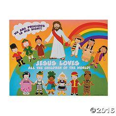 Jesus and the Children Sticker Scenes