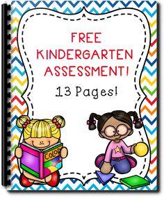 Kindergarten Placement Packet Freebie