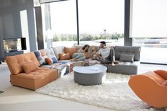 Modern style Arianne Love sectional by Fama. Classic piece of contemporary furniture and design. Modular Sectional Sofa, Modern Sectional, Modern Sofa, Mah Jong Sofa, Outdoor Furniture Sets, Outdoor Decor, Sofa Set, Contemporary Furniture, New Homes