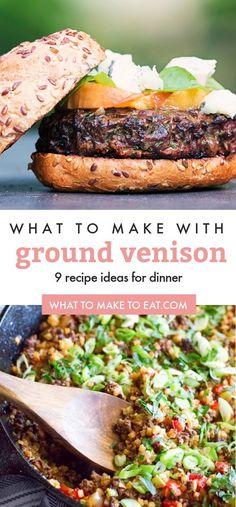 Deer Meat Recipes Ground, Deer Burger Recipes, Ground Venison Recipes, Dinner Recipes With Venison, Recipes With Deer Meat, Venison Burgers, Venison Meat, Hamburgers, Cooking With Ground Venison