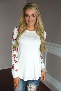 Making Magic Floral Sleeve Top ~ White – The Pulse Boutique
