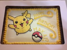Pikachu Pokemon Sheet Cake -from Cakefully Cake. https://m.facebook.com/Cakefullycake