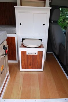 Clever portapotty - just pulls out from the cabinetry.