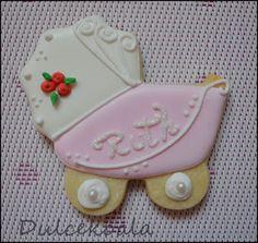galleta decorada carrito bebe