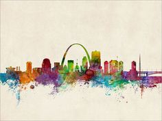 St Louis Skyline St Louis Missouri Cityscape Art Print by artPause