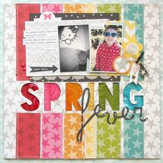 Spring Fever *Bella Blvd* - Scrapbook.com  Love all the colors used on this layout!