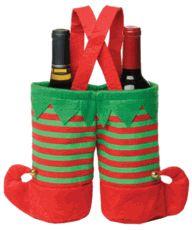 Elf Pants Wine Bottle Holder