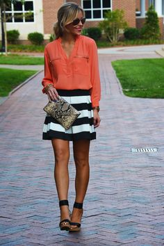 Coral and stripes