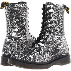 Doc Martens 10 Eye Paint Splatter Boots