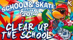 Club Penguin: School & Skate Party 2014   Clear up the School - Walkthro...