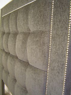 Fabric Upholstered Headboard - Photo ID# Bed Frame, Upholstery, Room Decor, Fabric, Headboards, Beds, Design, Rooms, Bedroom
