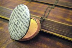 Vintage Dictionary Locket (one of a kind) Cinder, The Girl Who, Sage, Treats, My Love, How To Make, Vintage, Jewelry, Sweet Like Candy