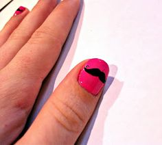 Ramblings of a Baby Making Addict: Movember Inspired - Moustache Nail Art - DIY Silhouette Cameo