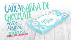 Caixa Barra de Chocolate para Páscoa Personalizada