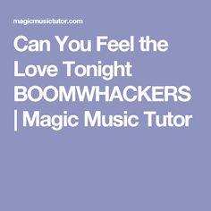 Can You Feel the Love Tonight BOOMWHACKERS   Magic Music Tutor
