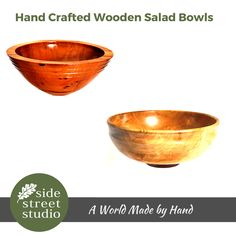 Our fabulous WOODEN SALAD BOWLS are all hand crafted in BC. Each piece is made using skills that have taken years to perfect.  All of our WOODEN SALAD BOWLS are locally handcrafted and makes a superb original Gift for birthdays, weddings, anniversaries, housewarmings, retirement, corporate gifts, and romantic events or just for you. See our Guide to Caring for Your Wooden Salad Bowl.