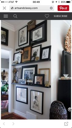Use vertical wall across from radiator - small armchair and whole wall full of multiple frames and photos or a canvas